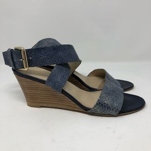 AGL Ankle Wrap Wedge Sandal